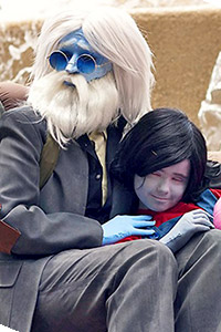 Simon Petrikov and Marcy from Adventure Time