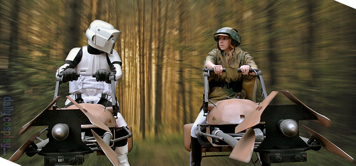 Endor Leia / Scout Trooper / Endor Commando from Star Wars Episode VI: Return of the Jedi