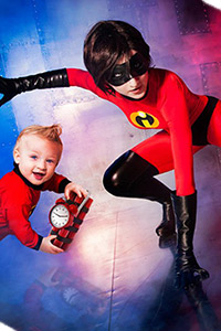Elastigirl & Jack-Jack from The Incredibles