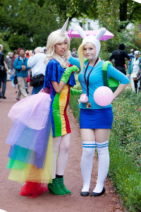 Fionna & Lady Rainicorn from Adventure Time