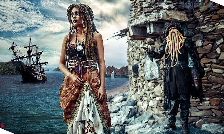 Tia Dalma & Davy Jones from Pirates of the Caribbean