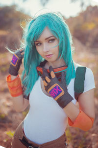 Motocross Bulma from Dragon Ball Z