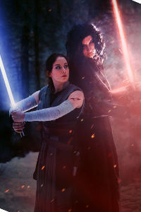 Rey & Kylo Ren from Star Wars: The Last Jedi