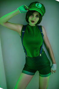 Fem Luigi from Super Mario Bros.