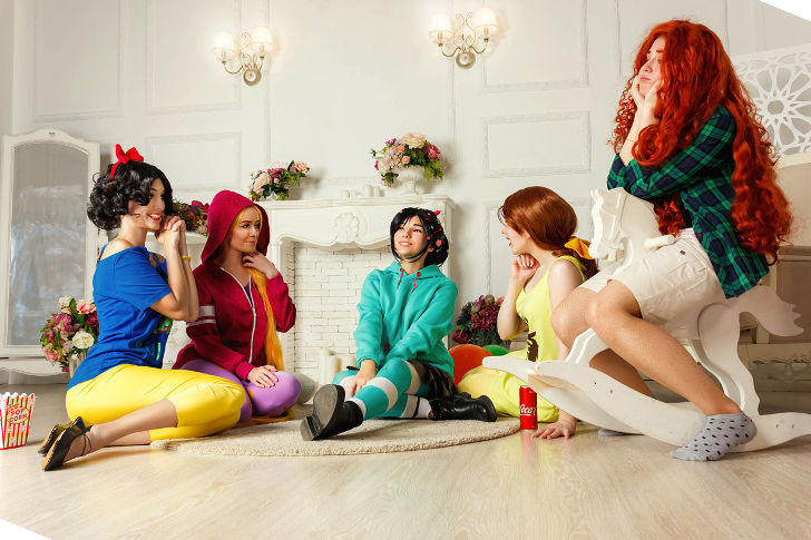 Snow White and Disney Princesses from Ralph Breaks the Internet