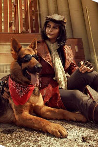Piper Wright & Dogmeat from Fallout 4