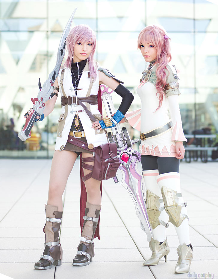 Lightning and Serah Farron from Final Fantasy XIII  amp  Final Fantasy    Final Fantasy Serah And Lightning