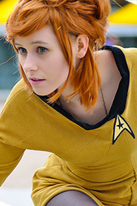Femme Captain Kirk from Star Trek