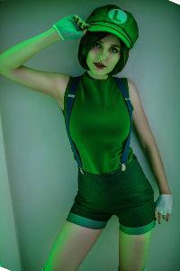Fem Luigi from Super Mario Bros.