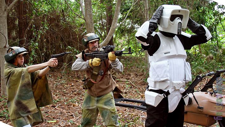 Image result for endor scout trooper